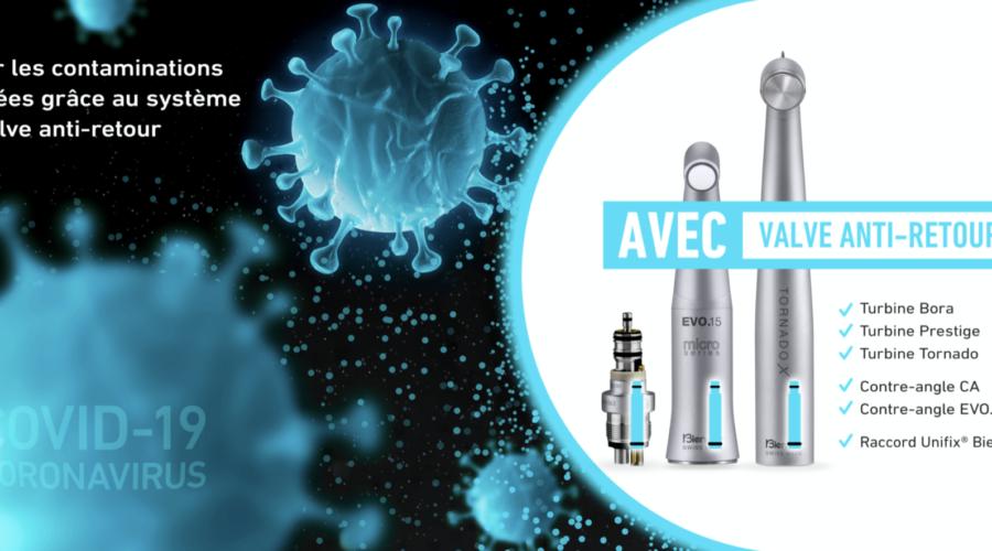 Titre :  Eviter les contaminations croisées grâce au système de valve anti-retour Bien-Air Dental